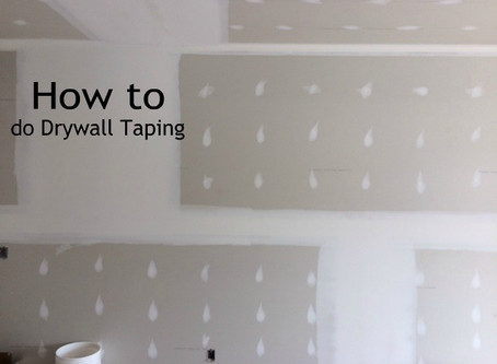 How to do Drywall Taping 1 st Coat.