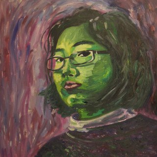 Self-portrait inspired by Van Gogh