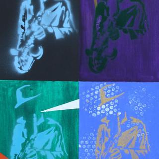 Jazz Pop Art Stencil
