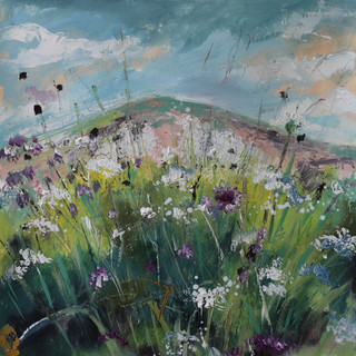 Chalk pit and flowers
