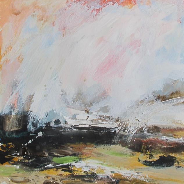 Plein-air acrylic painting 2