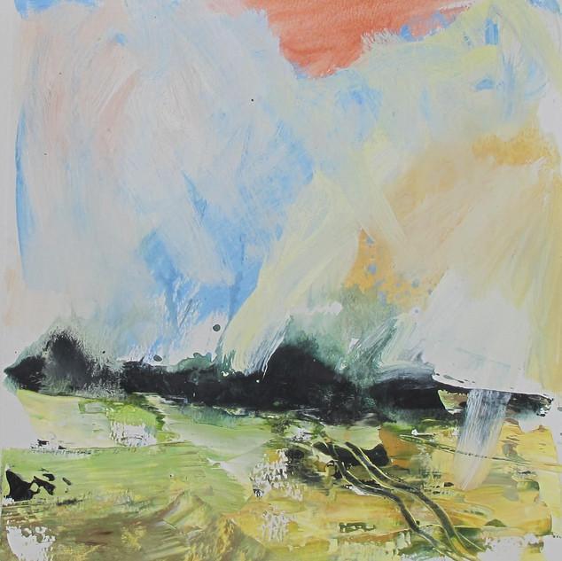 Plein-air acrylic painting 1
