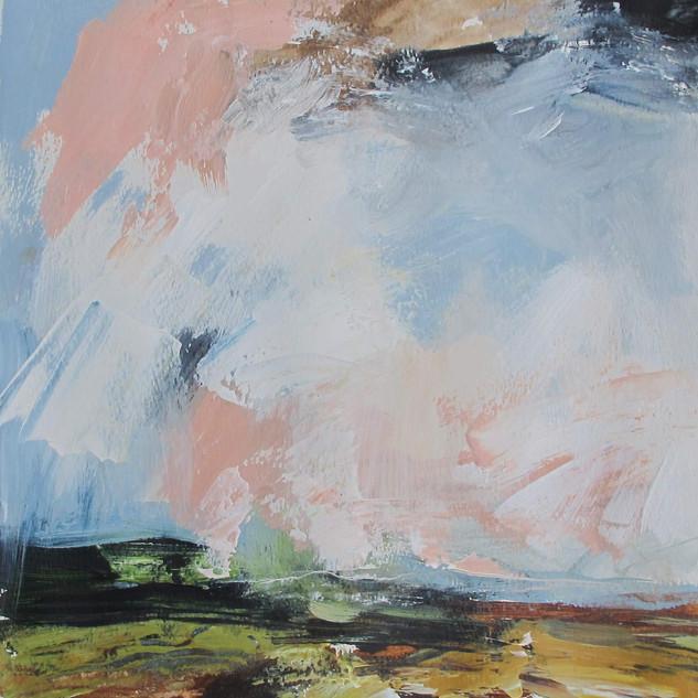 Plein-air acrylic painting 4