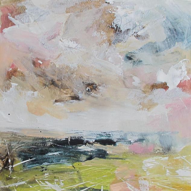 Plein-air acrylic painting 3