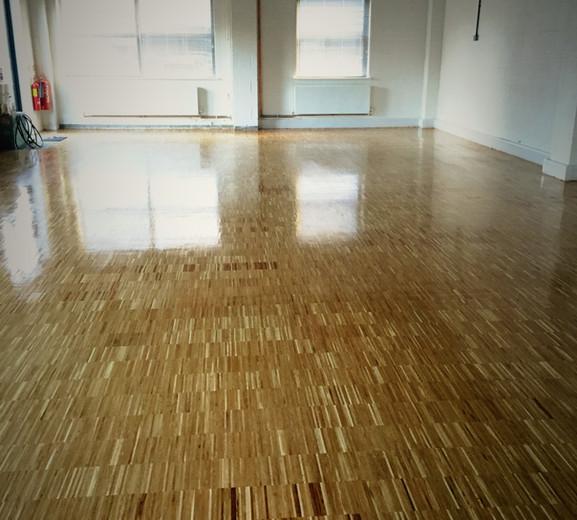 Industrial oak parquet floor