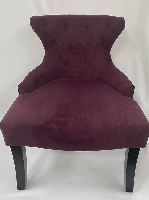 Eggplant Velvet Chair