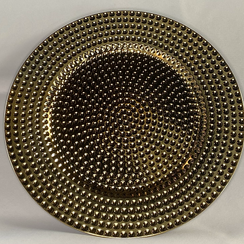 Gold Beaded Charger