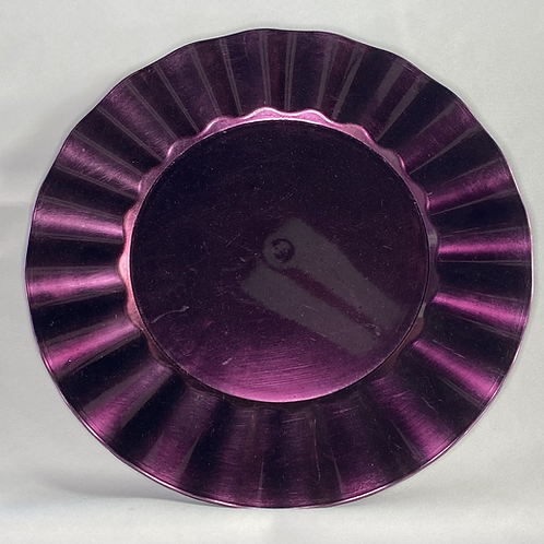 Purple Ruffle Charger