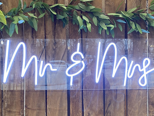 Mr. & Mrs. LED Neon Sign