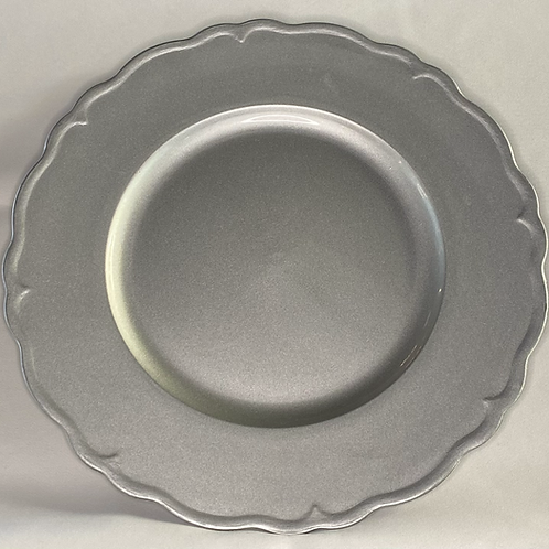 Silver Scallop Chargers - Multiple Colors