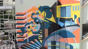 蘇屋村文化徑 3 層高外牆壁畫