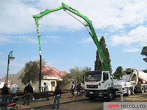 concrete pump, concrete pumping