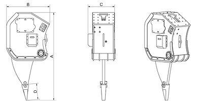 vibro ripper, vibrating ripper, vibratory ripper, demoltion ripper