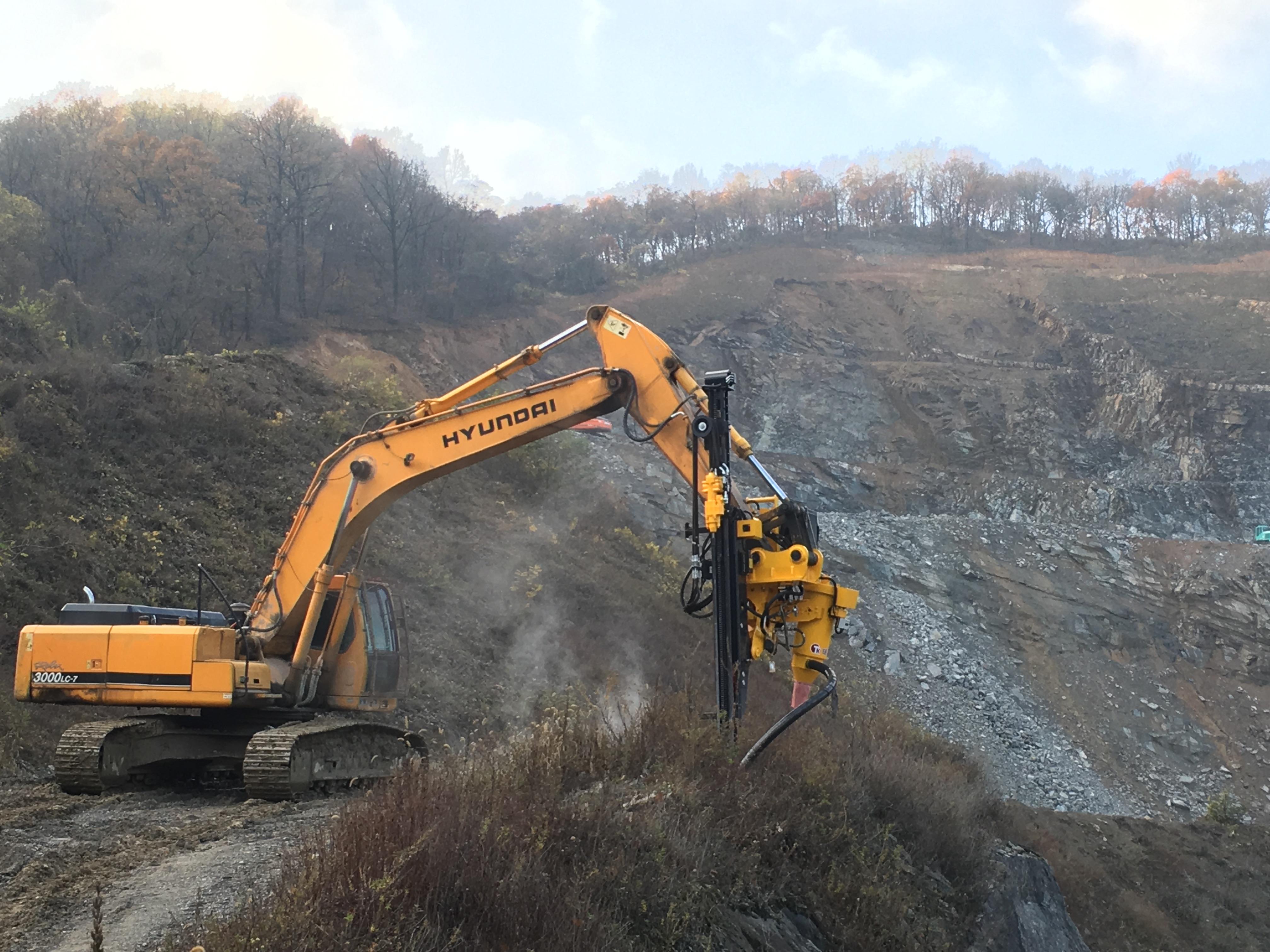 Excavator Rock Drill