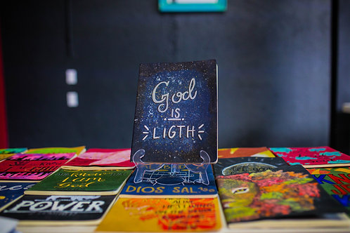"Libreta Artesanal ""God is ligth"""