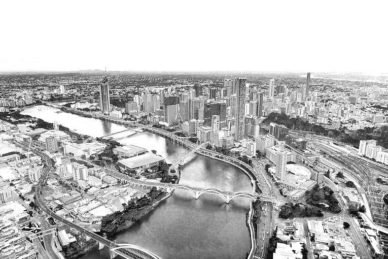 Magnificence of Brisbane City, Aerial Vi