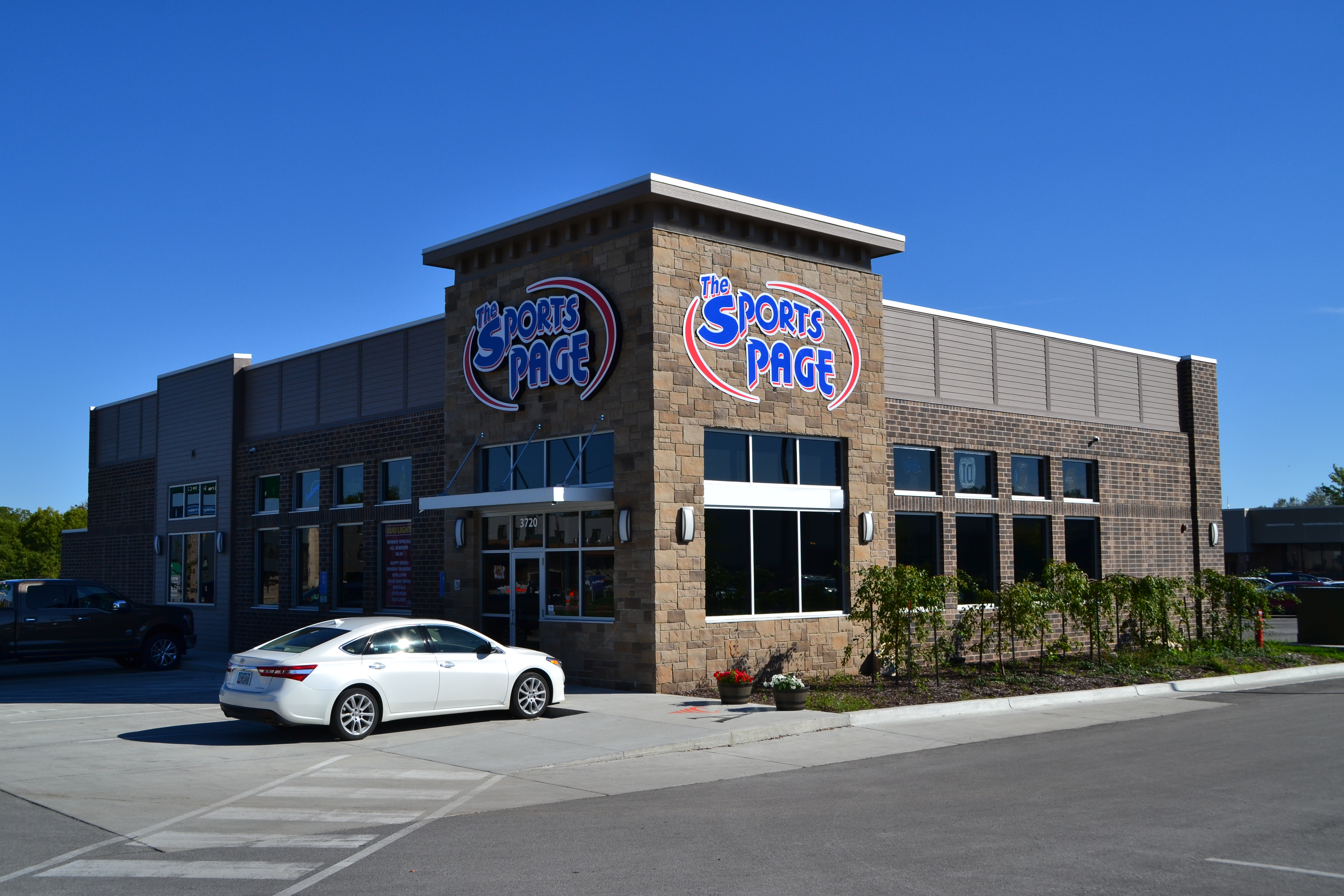 Sports Page Resturant Ames Iowa