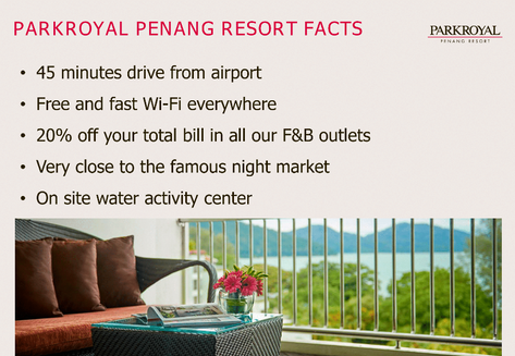 PARKROYAL PENANG RESORT FACT