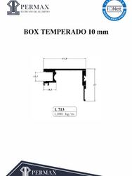 box temperado 10mm L 713