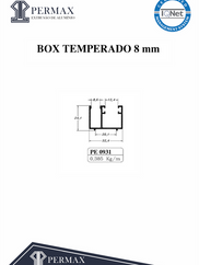 box temperado 8mm PE 0931