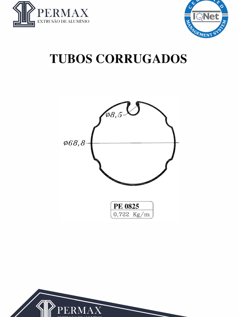 tubos corrugados PE 0825