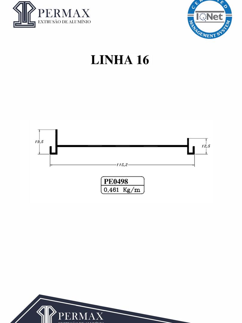 linha 16 PE 0498