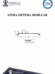 linha sistema modular PSM 207