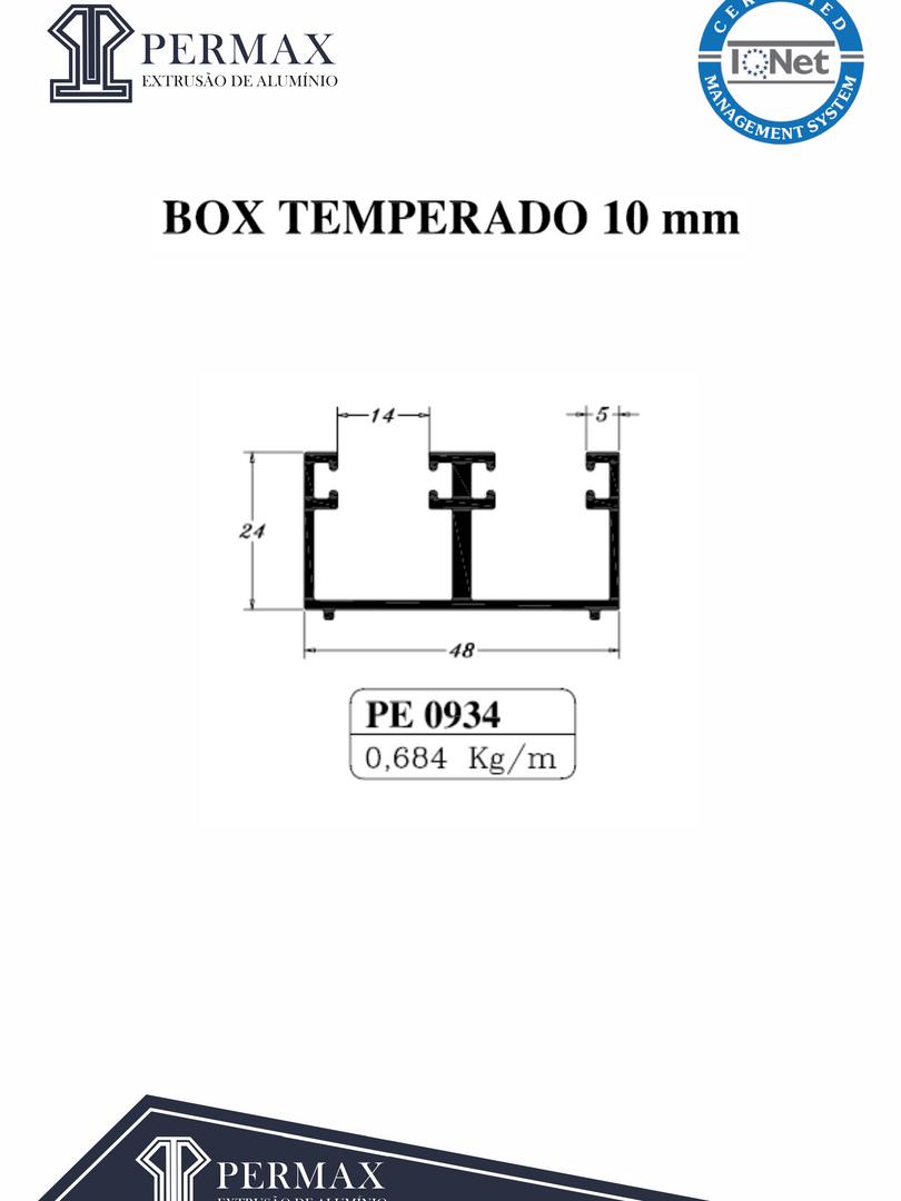 box temperado 10mm PE 0934