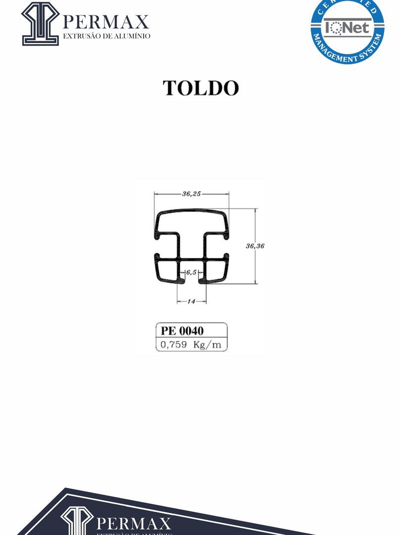 toldo PE 0040