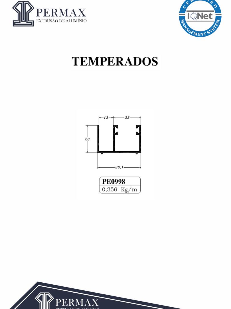 temperados PE 0998