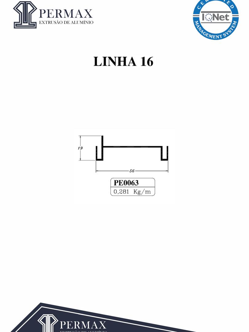 linha 16 PE 0063