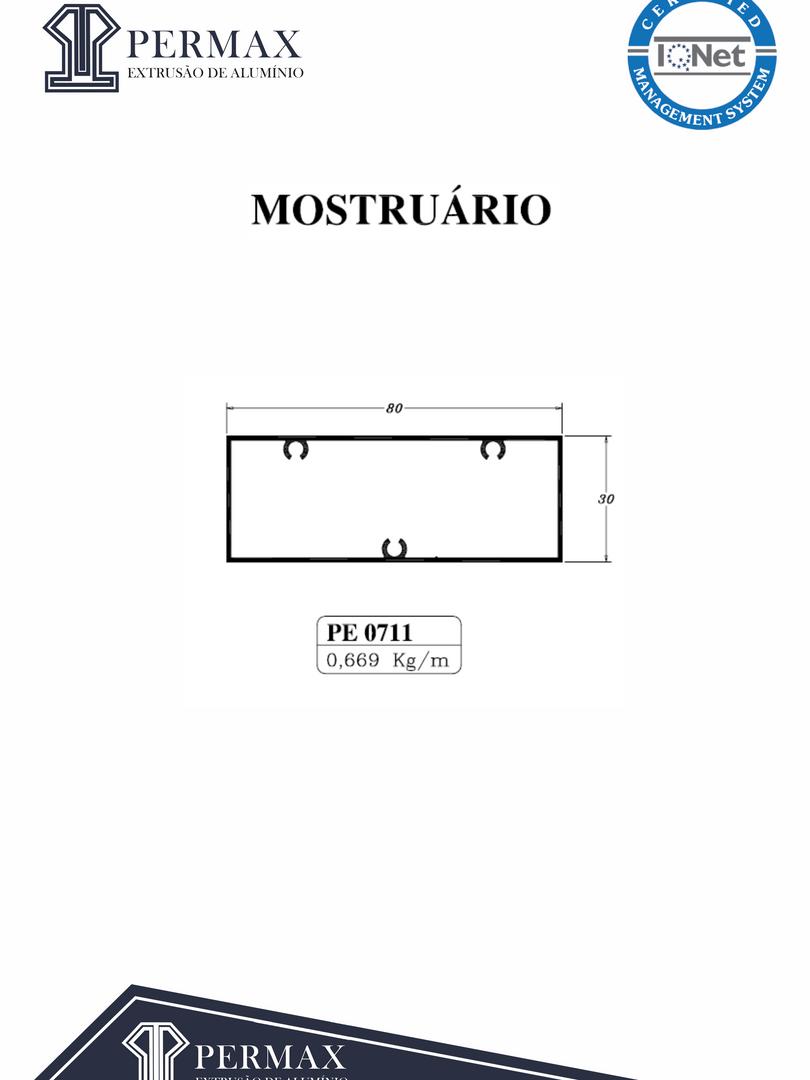 mostruário PE 0711