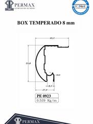 box temperado 8mm PE 0923
