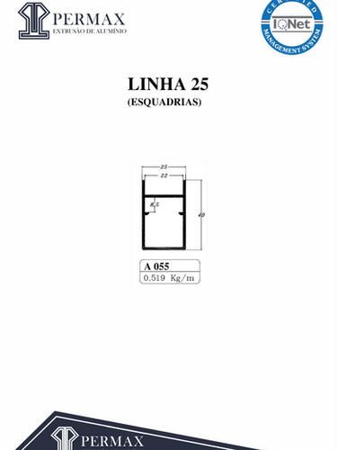 linha 25 esquadrias A 055