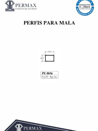 perfis para mala PE 0036