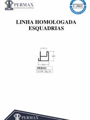 linha homologada esquadrias PE 0312