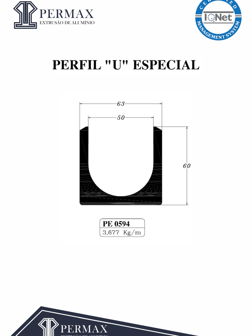 perfil U especial PE 0594