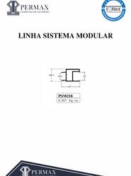linha sistema modular PSM 218