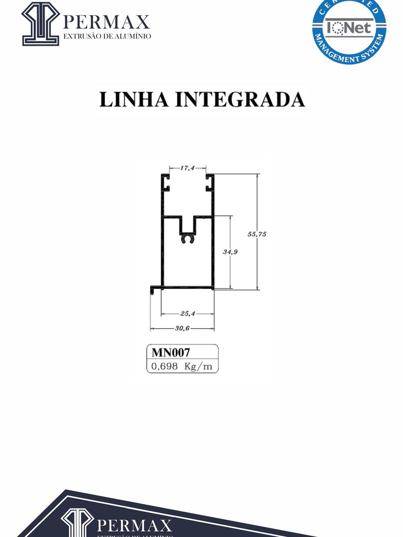 linha integrada MN 007