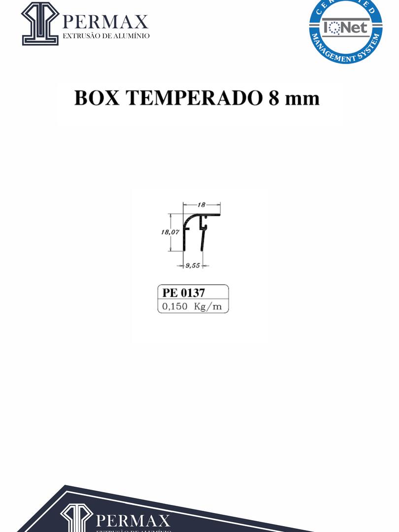 box temperado 8mm PE 0137