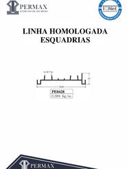 linha homologada esquadrias PE 0428