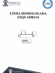 linha homologada esquadrias PE 0304