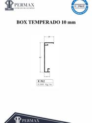 box temperado 10mm E 512