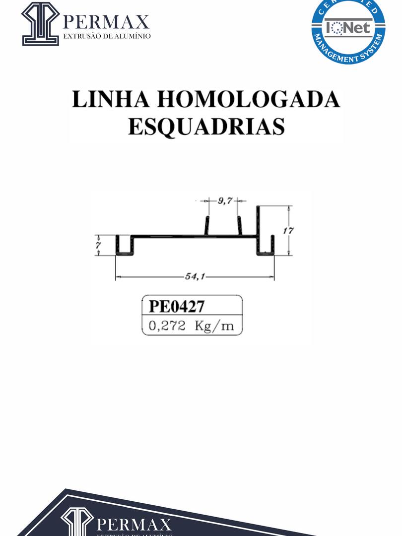 linha homologada esquadrias PE 0427