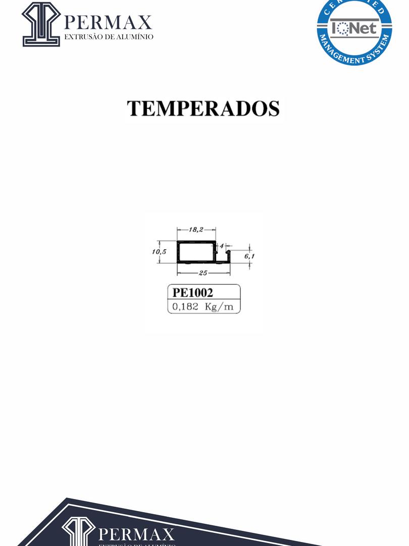 temperados PE 1002