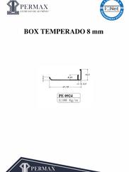 box temperado 8mm PE 0924