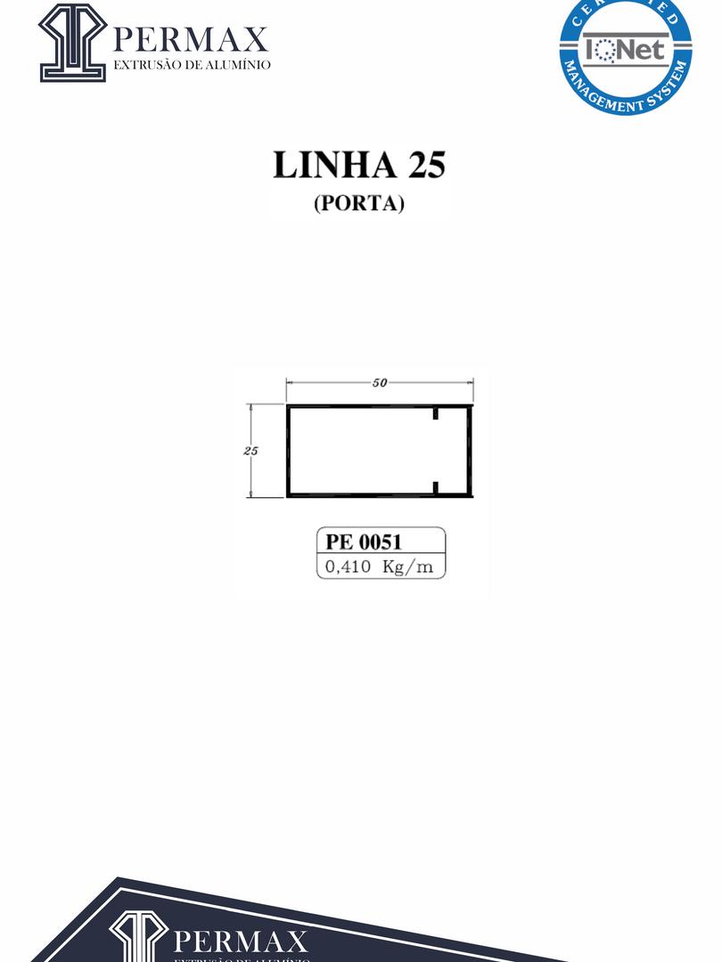 linha 25 porta PE 0051