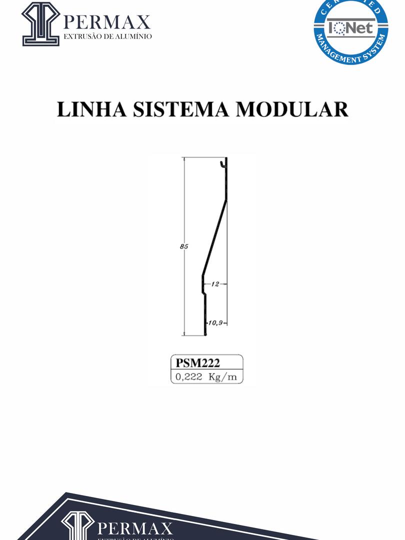 linha sistema modular PSM 222