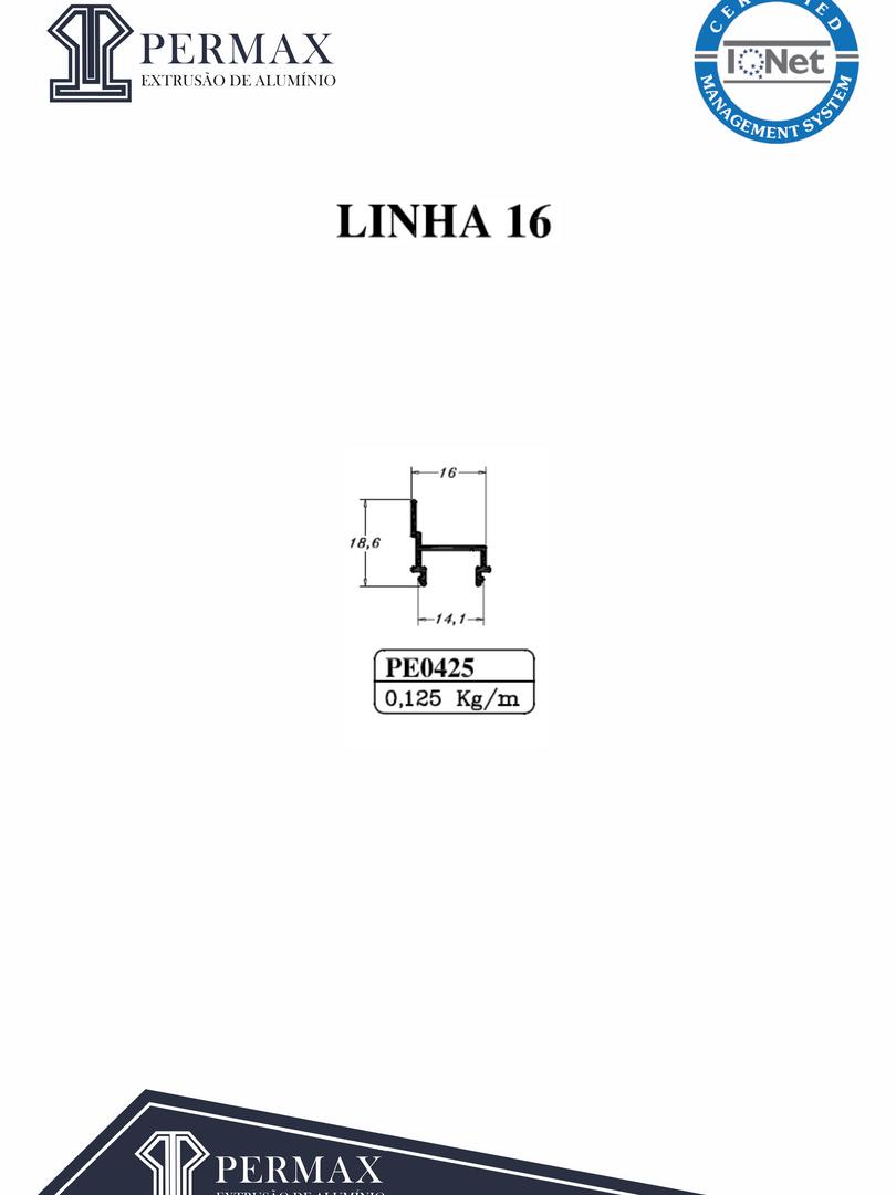linha 16 PE 0425