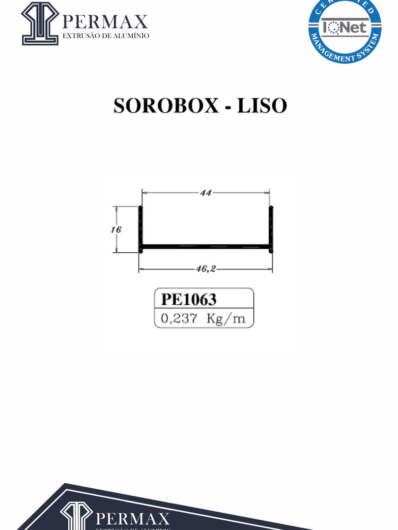 sorobox liso PE 1063